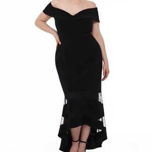 Plus size (18) Xscape high-low gown